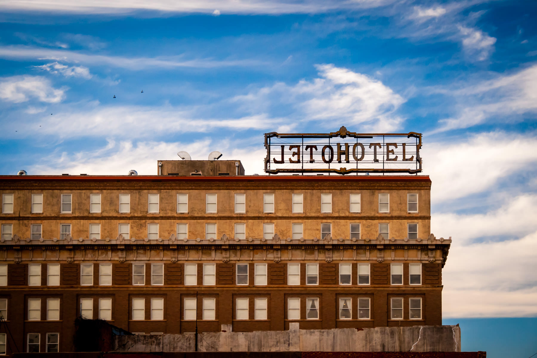 A hotel in Wichita Falls, Texas' downtown.