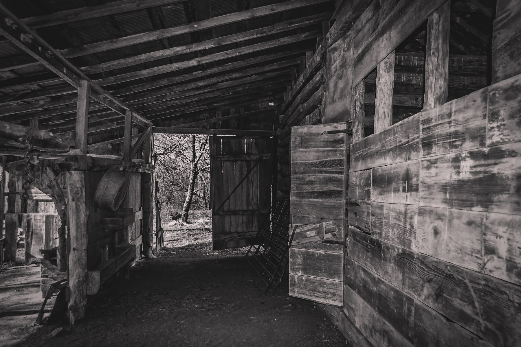 The barn at Penn Farm at Cedar Hill State Park, Texas.