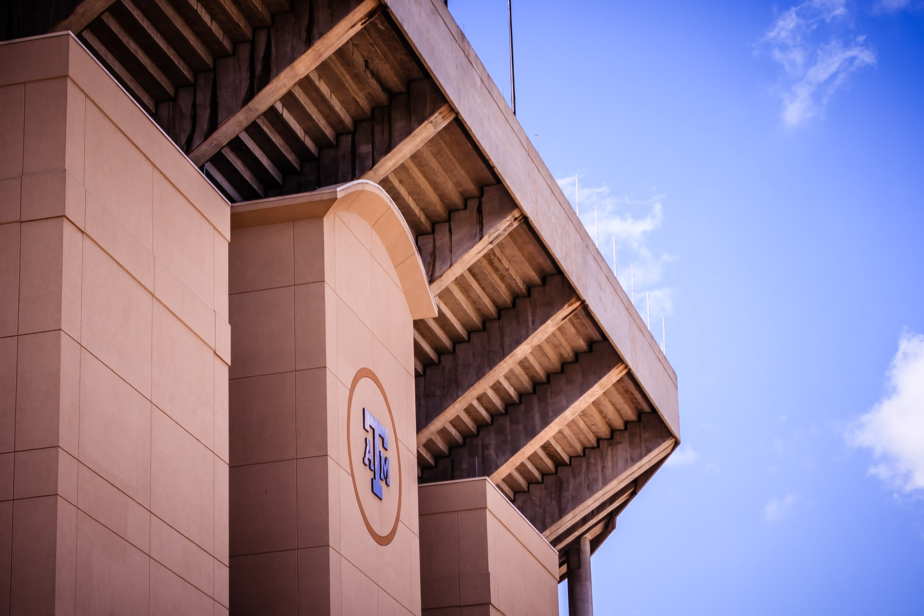 Exterior detail of Kyle Field, Texas A&M University's football stadium.