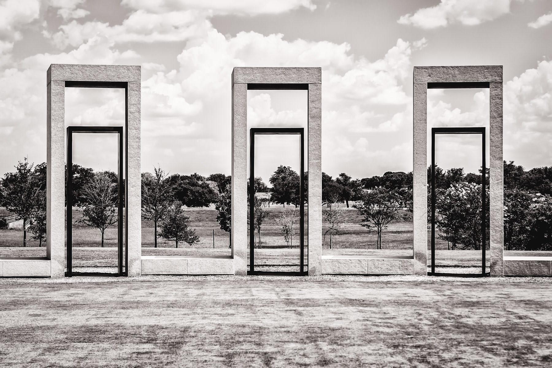 A portion of the Bonfire Memorial at Texas A&M University honoring those who died building the school's annual bonfire on November 18, 1999.