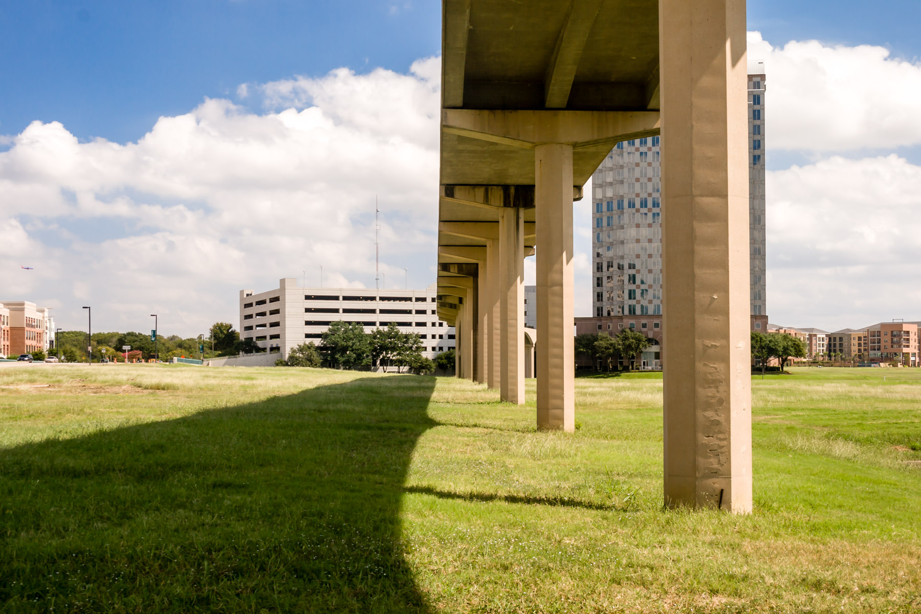 The rail track for the Las Colinas People Mover, Irving, Texas.