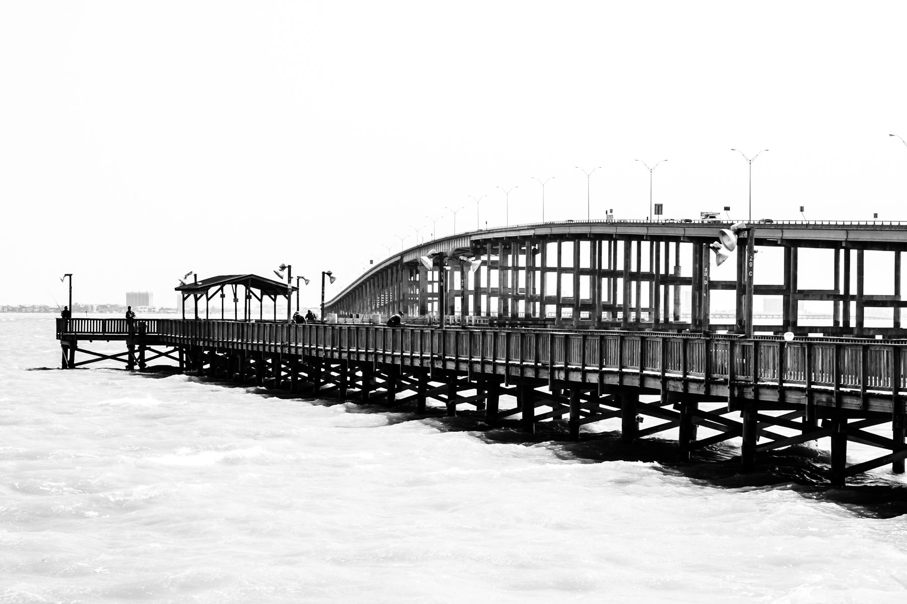 The causeway leading to South Padre Island from Port Isabel, Texas.