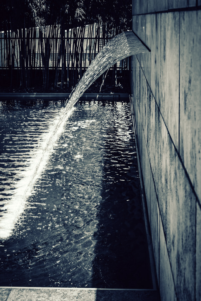A fountain at Dallas' Nasher Sculpture Center.