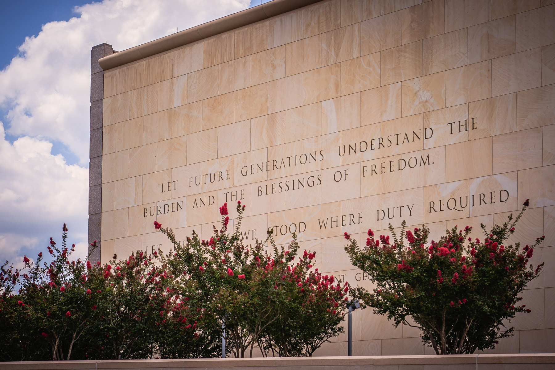 Exterior detail of the George Bush Presidential Library and Museum, College Station, Texas.