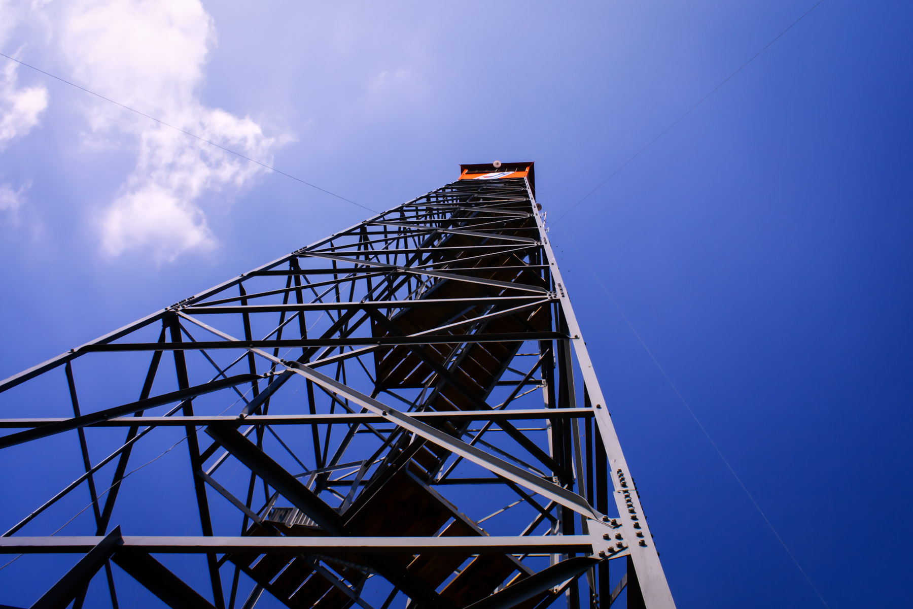 A fire watchtower outside of Jacksonville, Texas.