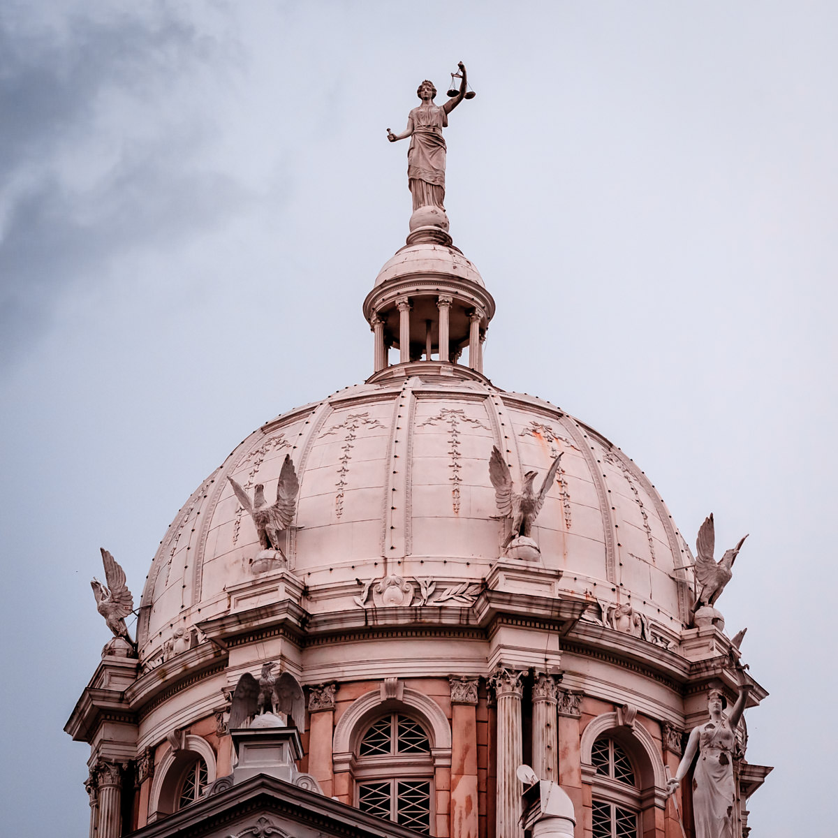 Detail of the McLennan County Courthouse's rotunda, Waco, Texas.