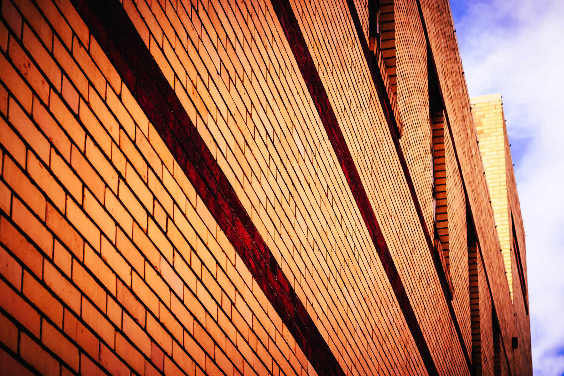 Bricks on the side of a building in Greenville, Texas.