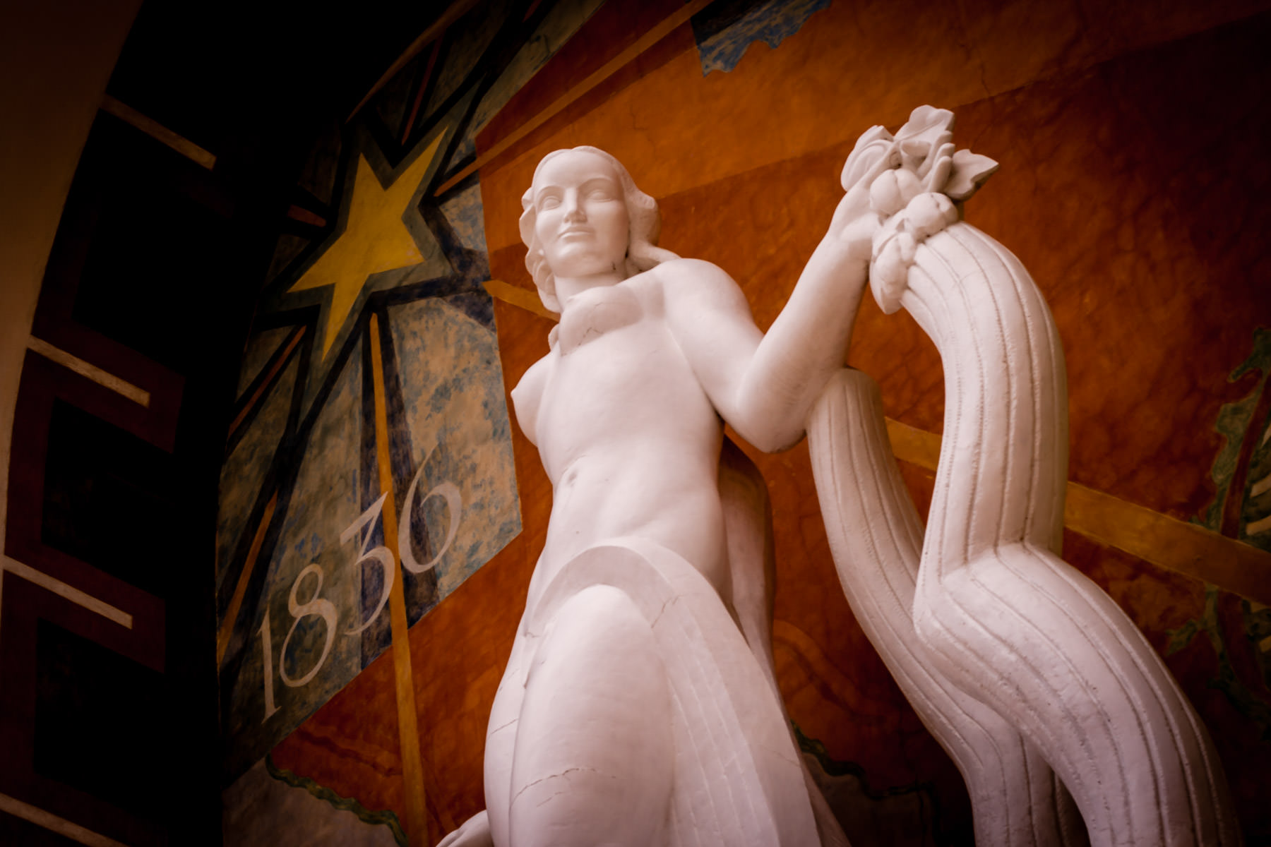 An Art Deco statue in Dallas' Fair Park.