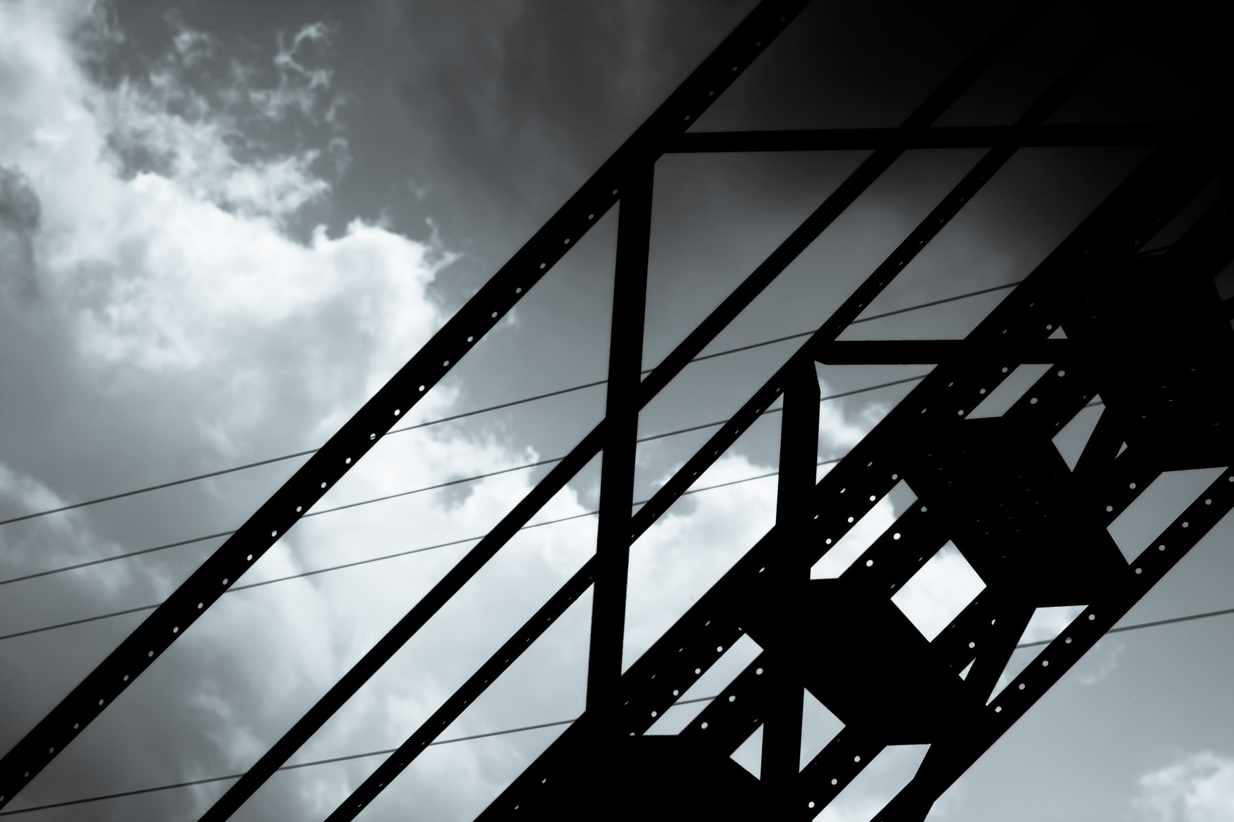 A metal staircase behind a building in Downtown Gladewater, Texas.