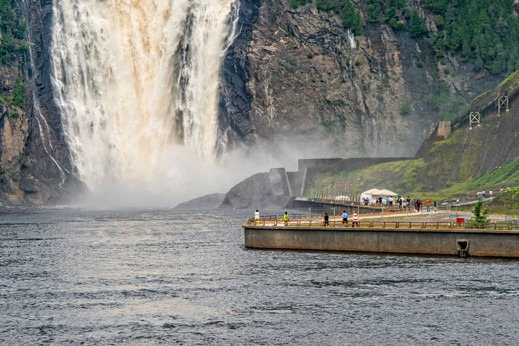 The Montmorency Falls, Québec City, are 84 meters high, 30 meters higher than Niagara Falls.