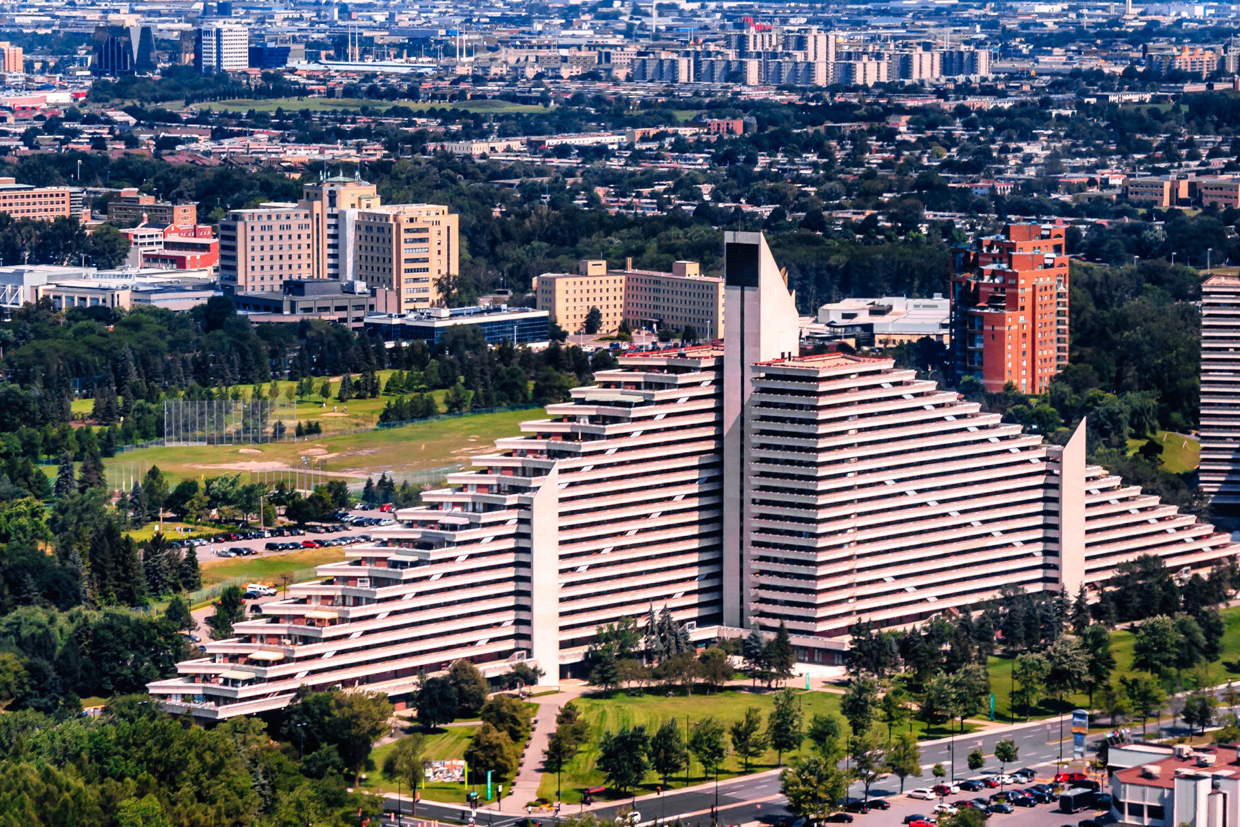Montréal's Olympic Village, built for the 1976 Olympics.