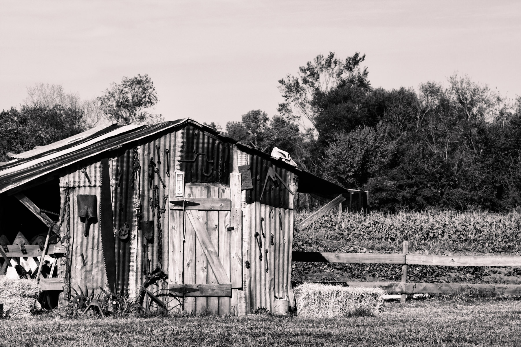 A run-down shed on Moore Farms in Bullard, Texas.
