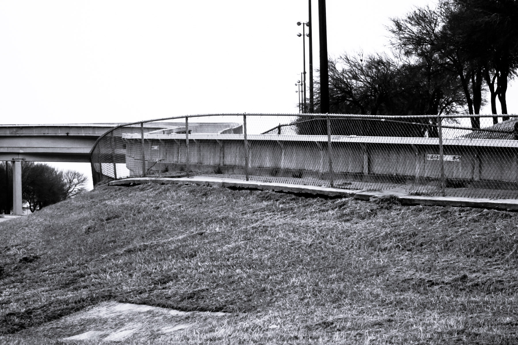 Track for the now-abandoned Airtrans people mover at DFW International Airport.