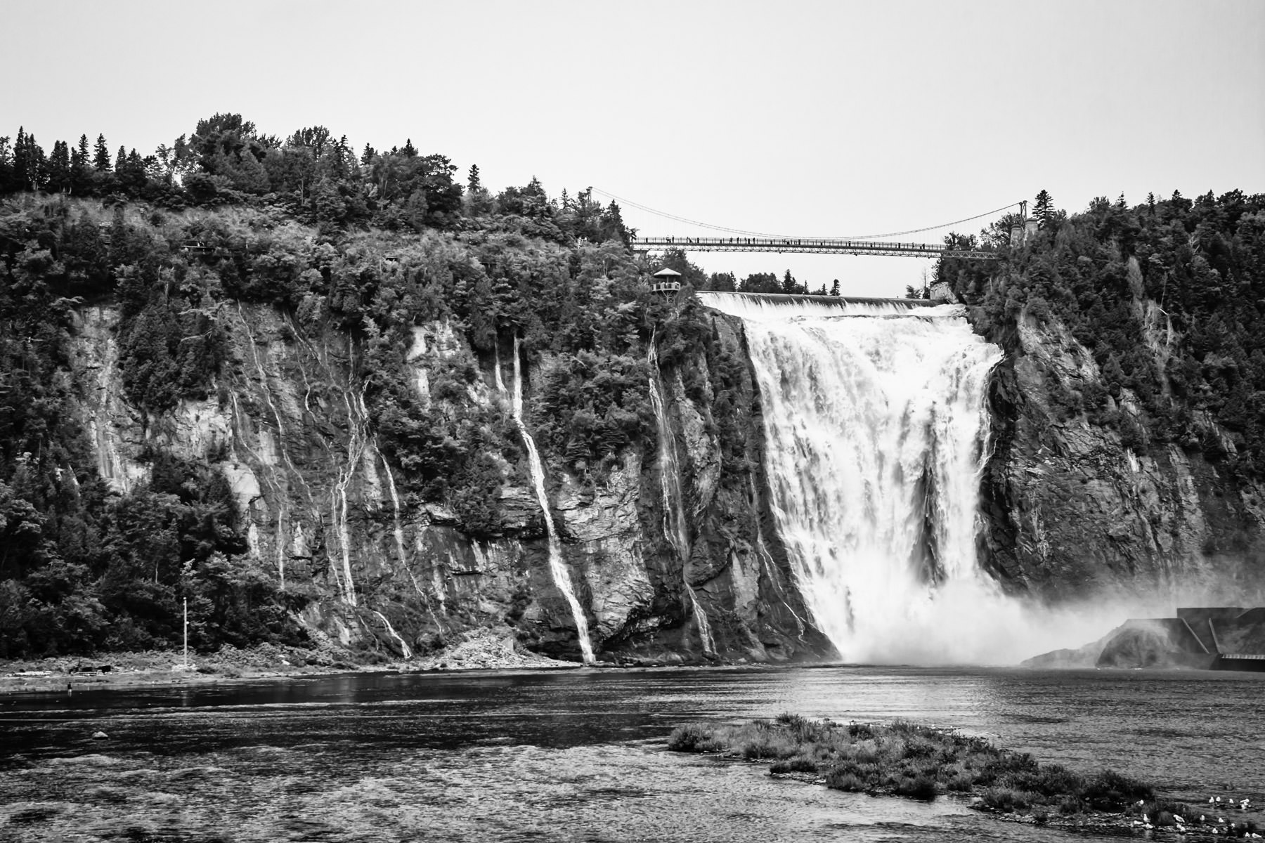 Montmorency Falls near Québec City, Canada.