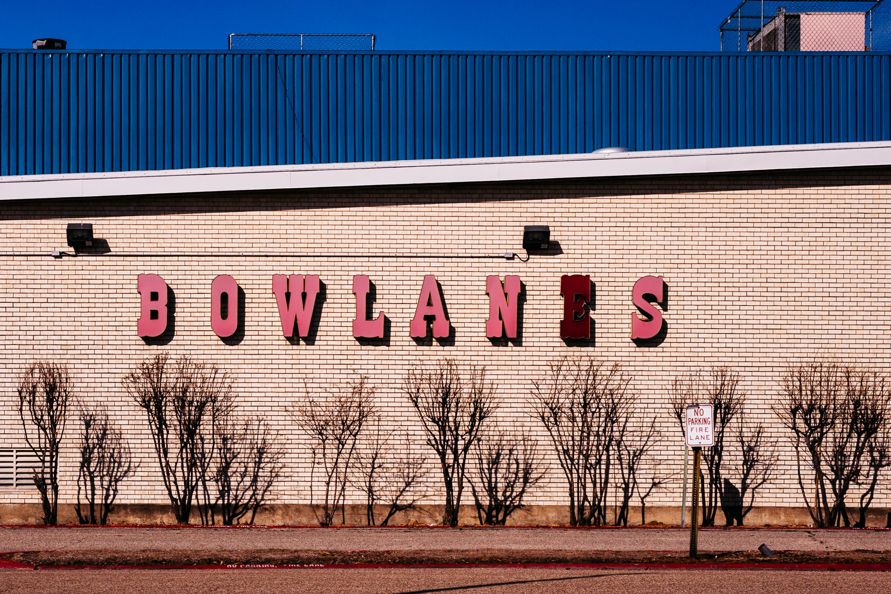The abandoned Big Town Bowlanes bowling alley in Mesquite, Texas.