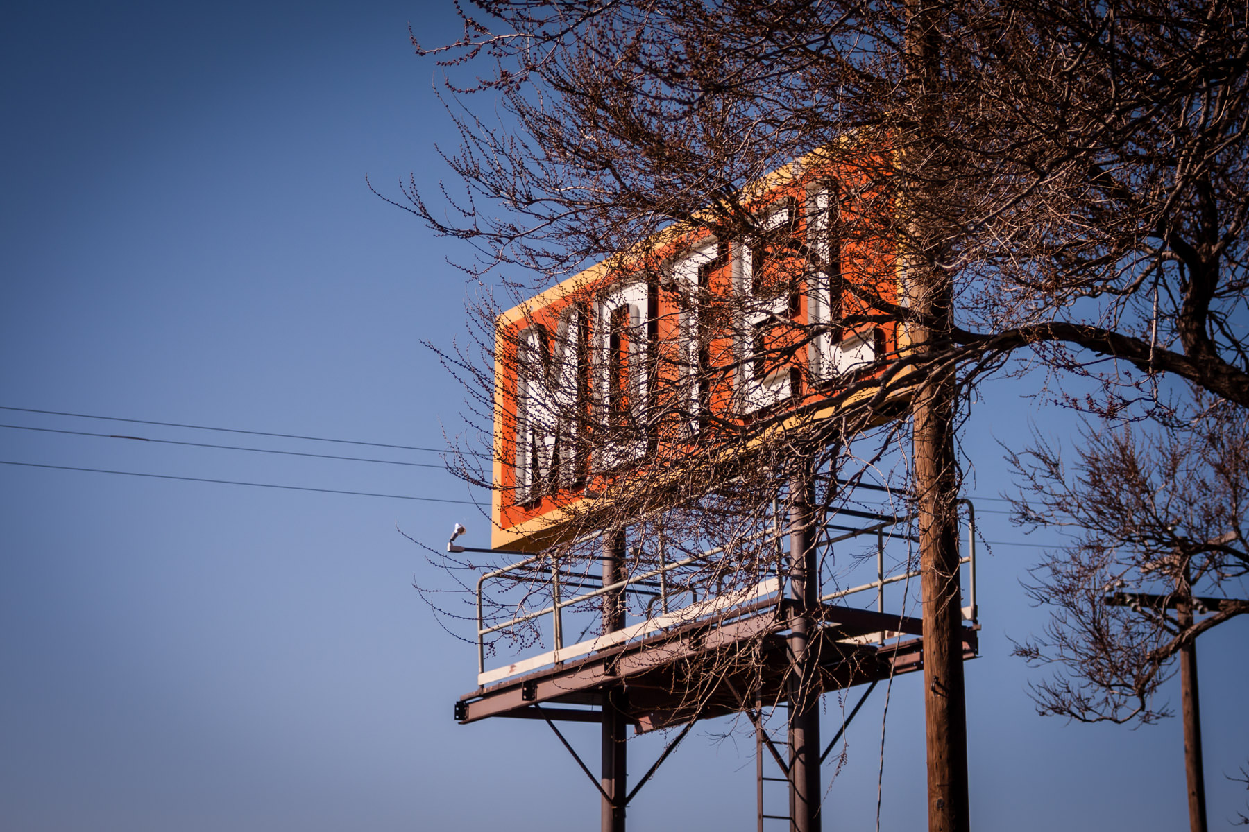 A motel sign in Adrian, Texas, along the historic Route 66.