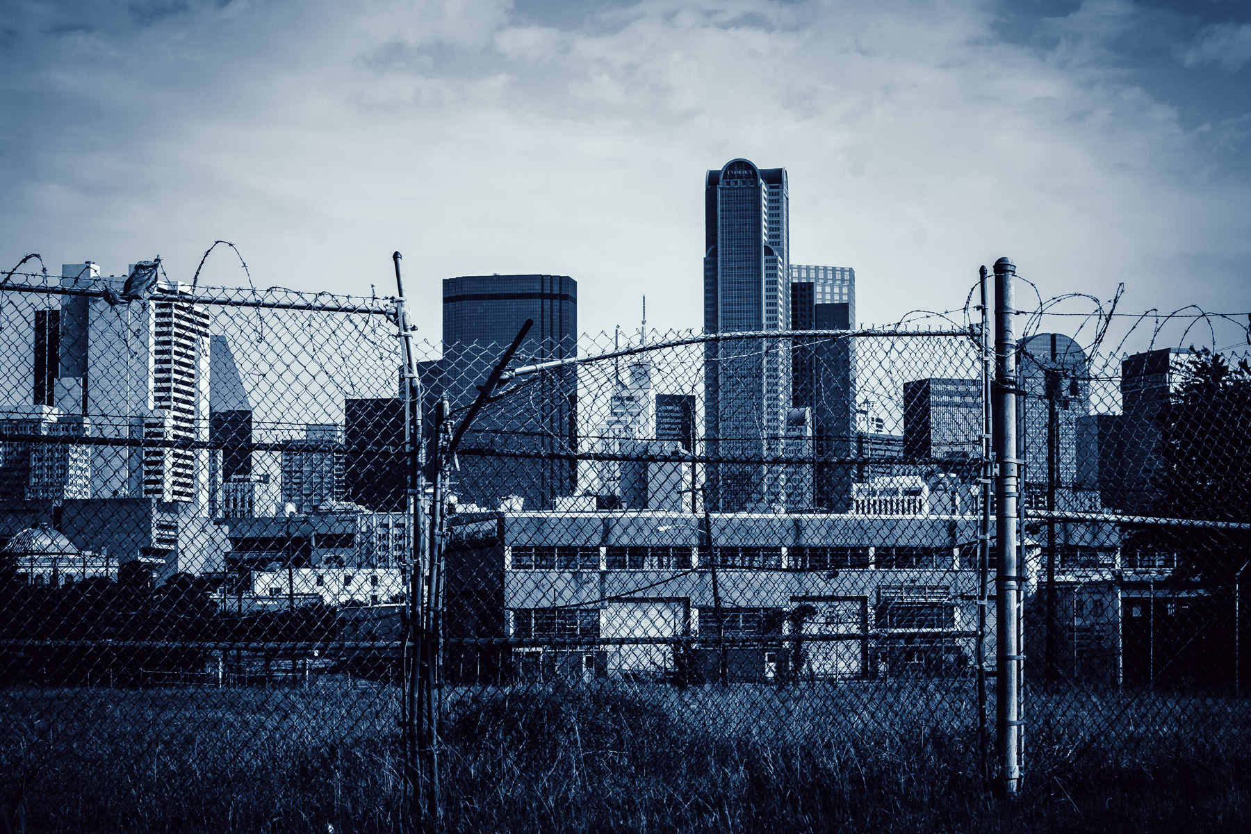 The Dallas Skyline as seen from an abandoned lot in The Cedars.