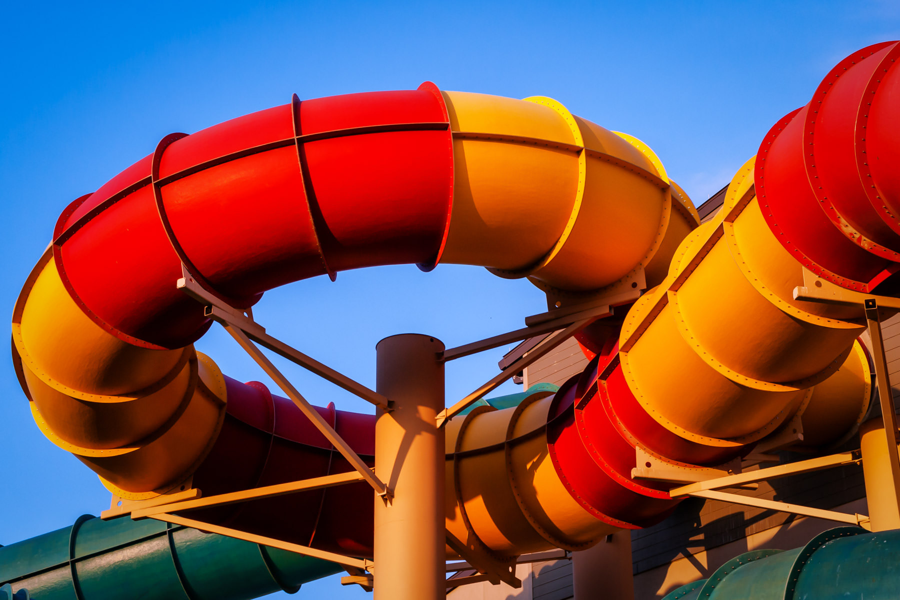 A water slide at Grapevine, Texas' Great Wolf Lodge.