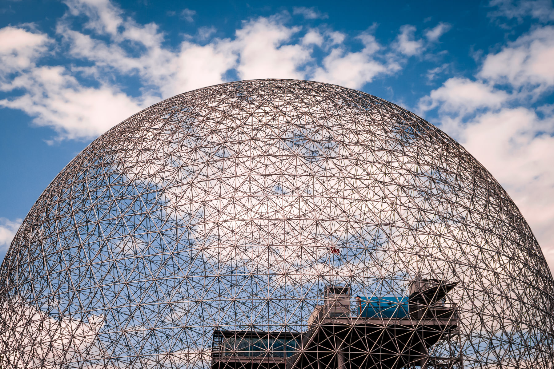 Montréal's Biosphére, the re-purposed Buckminster Fuller-designed Expo '67 United States Pavilion