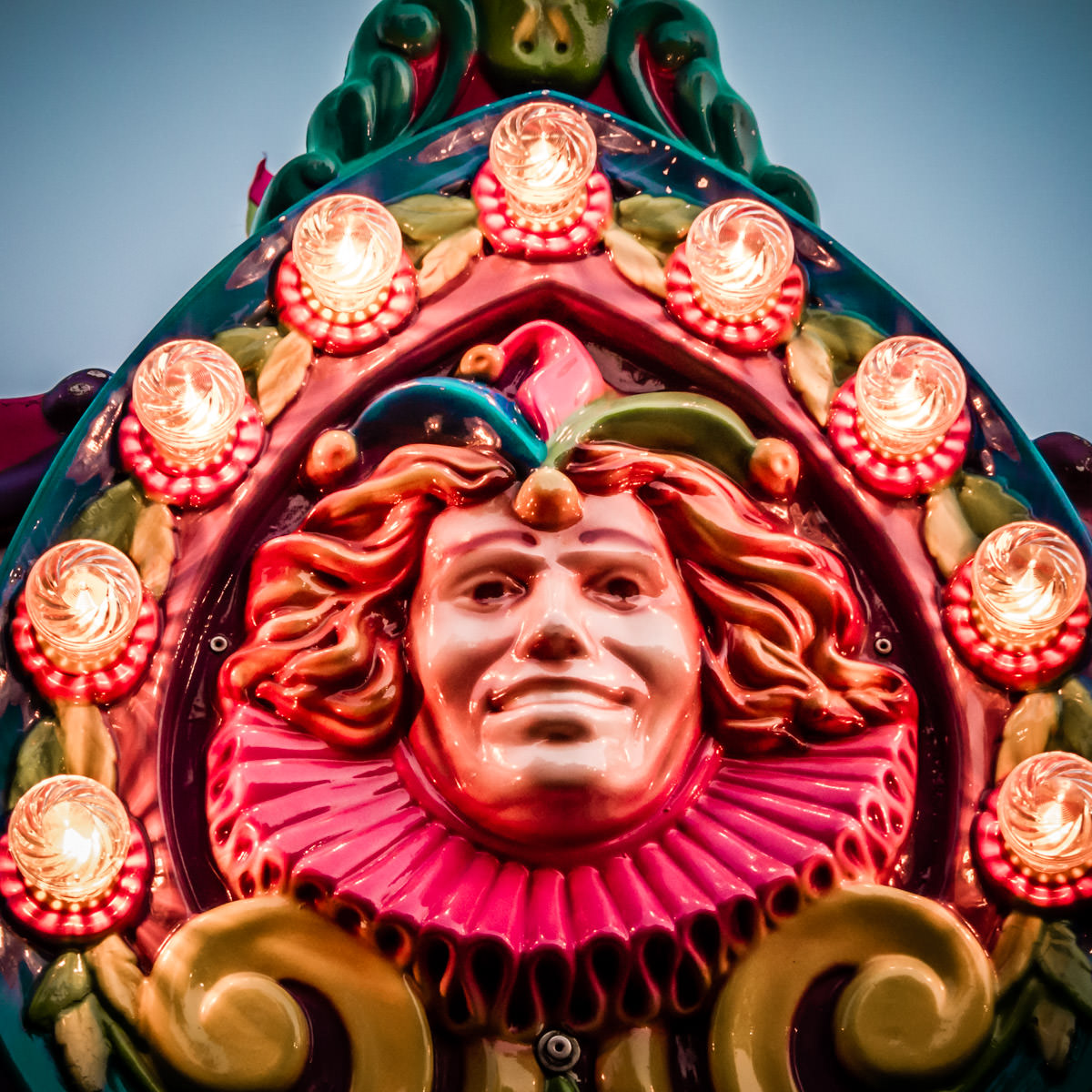 Detail of a carnival ride at Addison Oktoberfest, Addison, Texas.