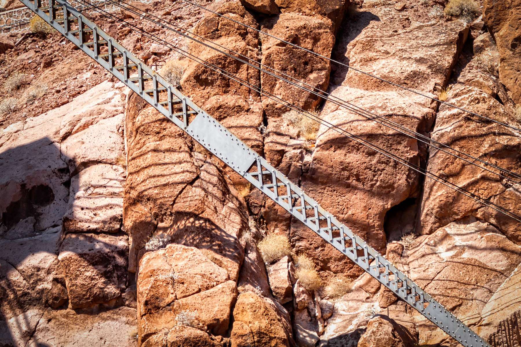 Detail of a crane at Hoover Dam, Nevada. This crane was one of the original cranes used during construction of the dam in the 1930s.