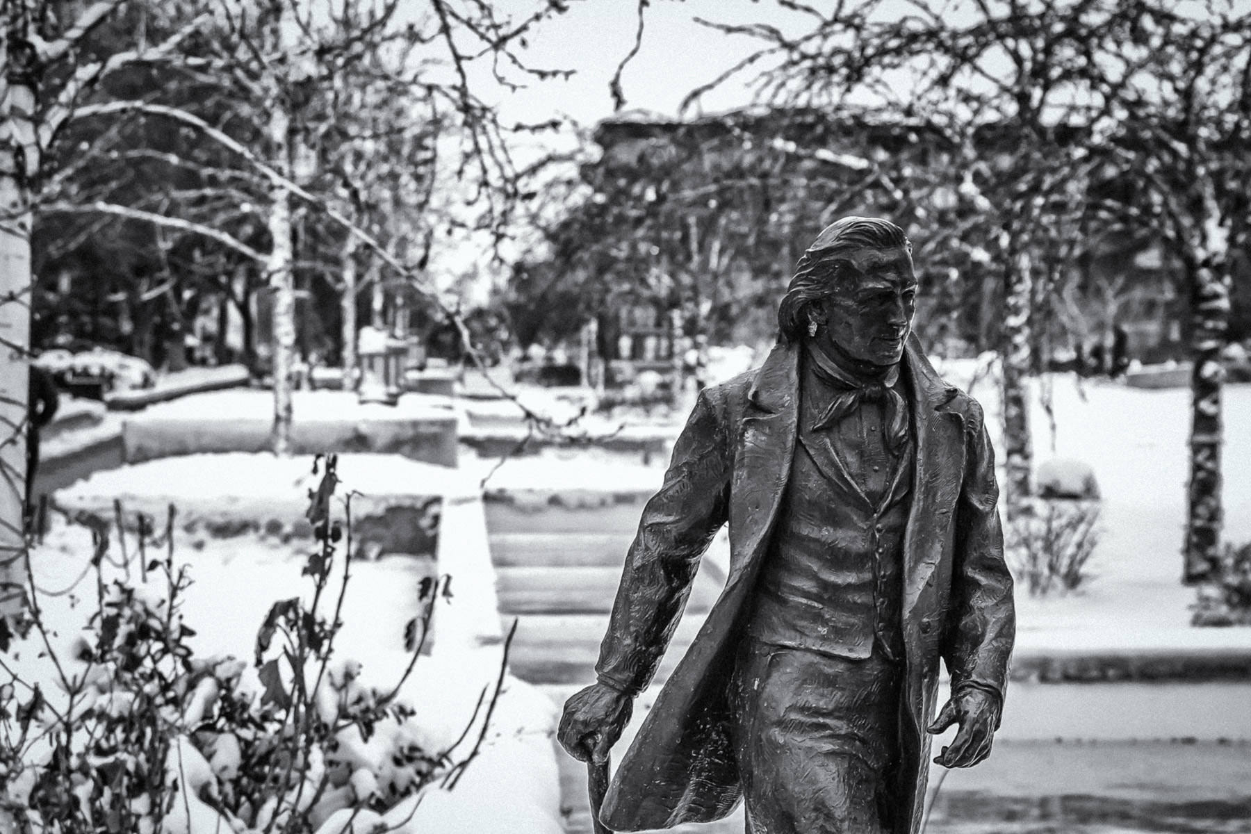 A statue spotted in Temple Square, Salt Lake City, Utah.
