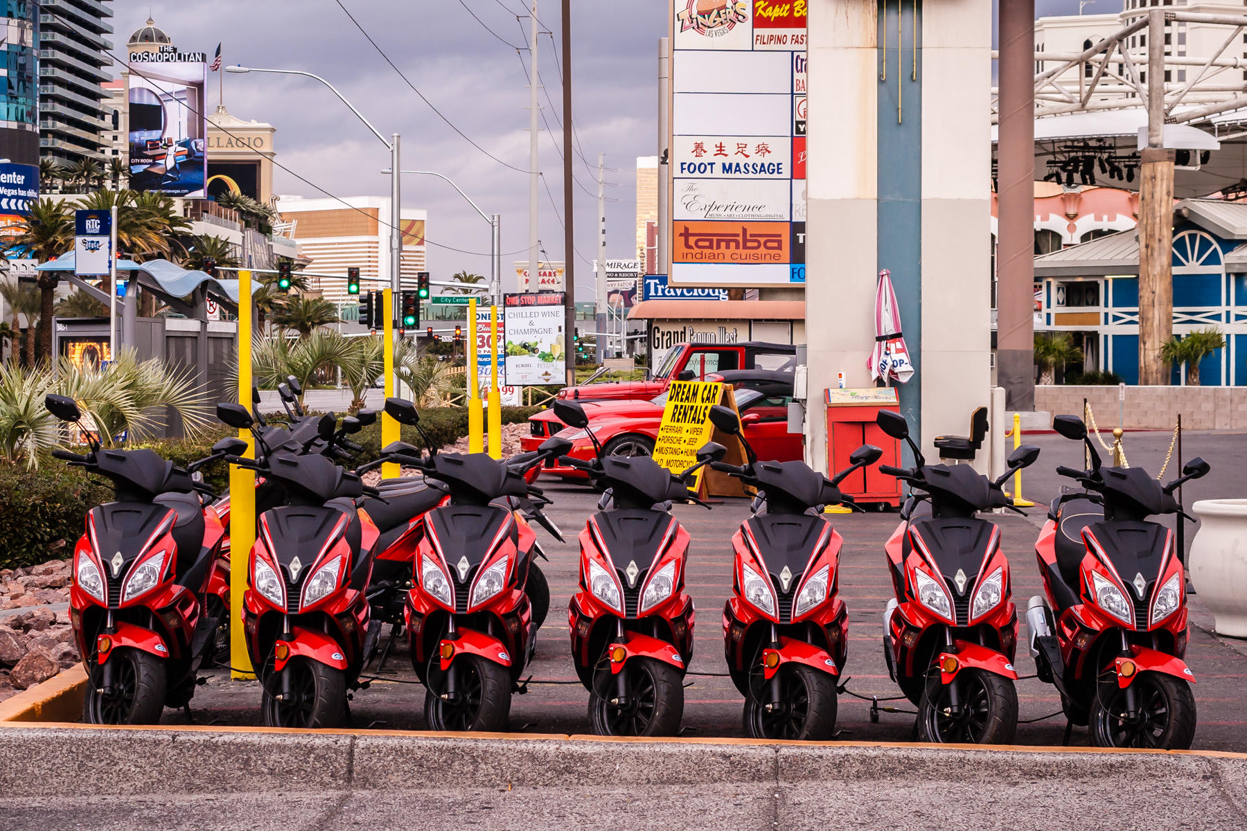 Scooters for rent in Las Vegas.