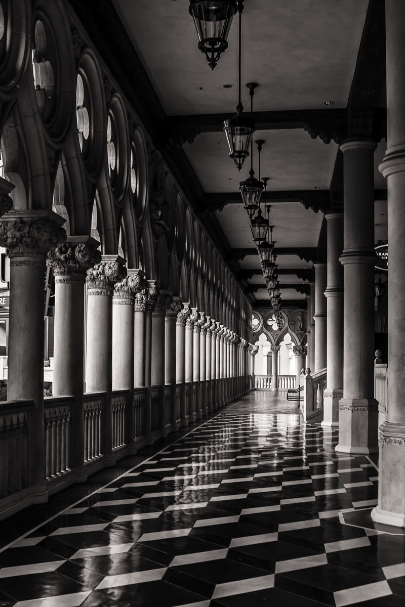 A loggia at The Venetian, Las Vegas.
