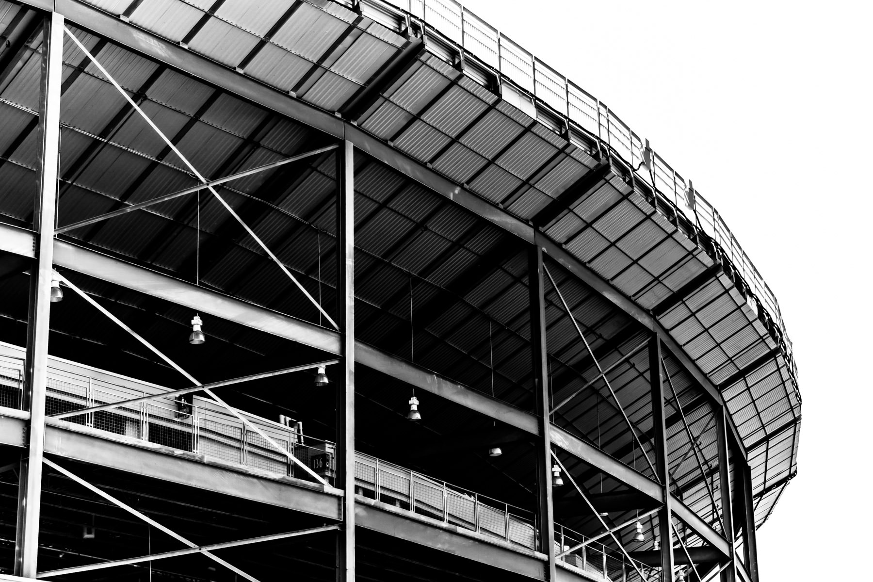 Detail of the exterior of the Cotton Bowl Stadium, Fair Park, Dallas.