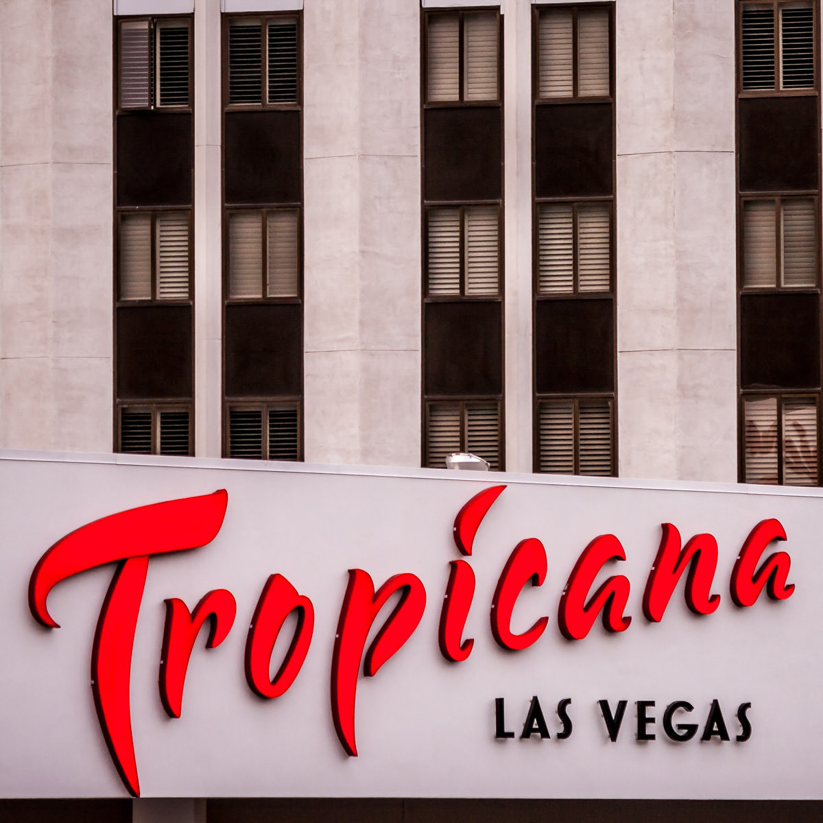 One of the signs at the Tropicana, Las Vegas.