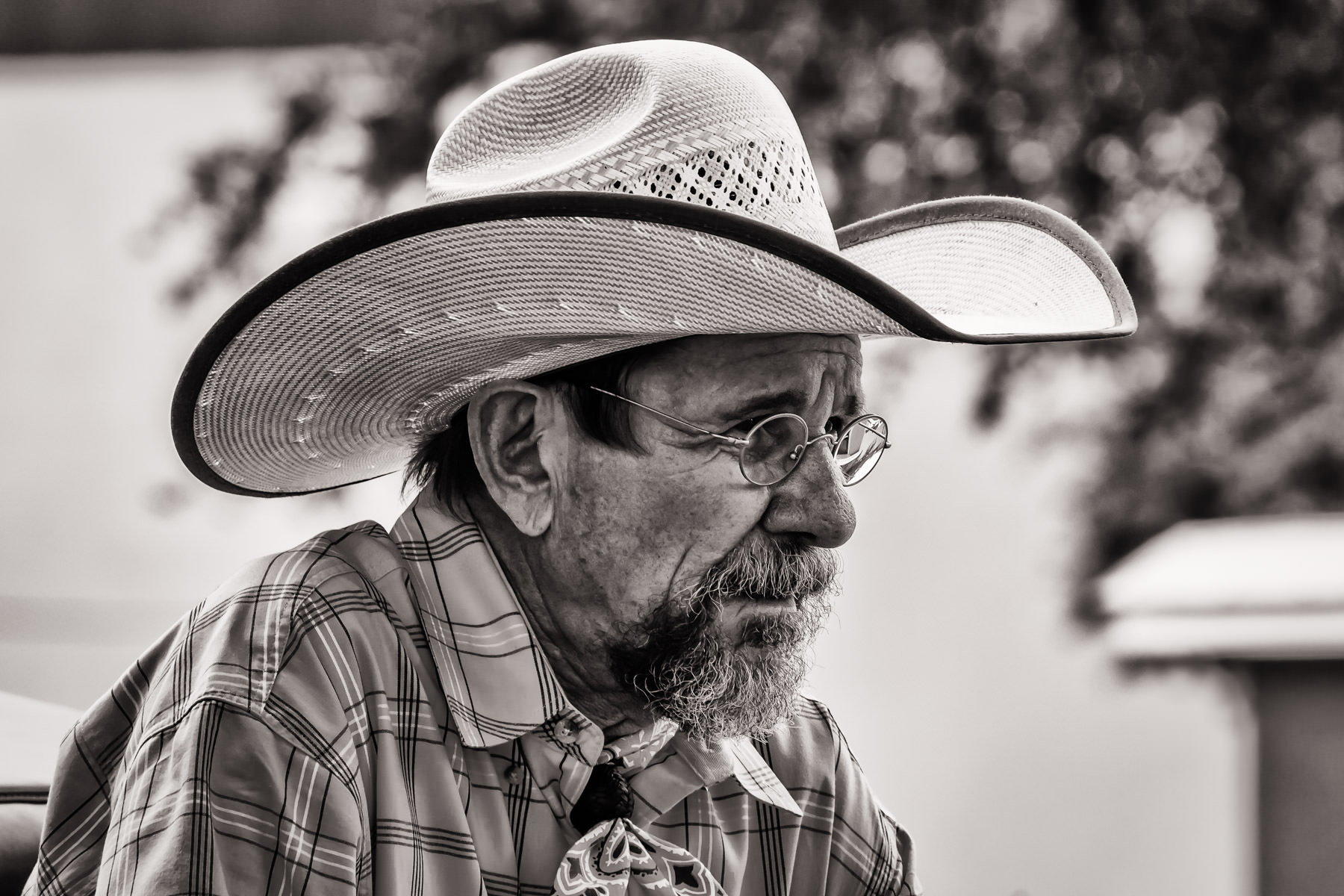 An old cowboy at the Fort Worth Stockyards, Texas.