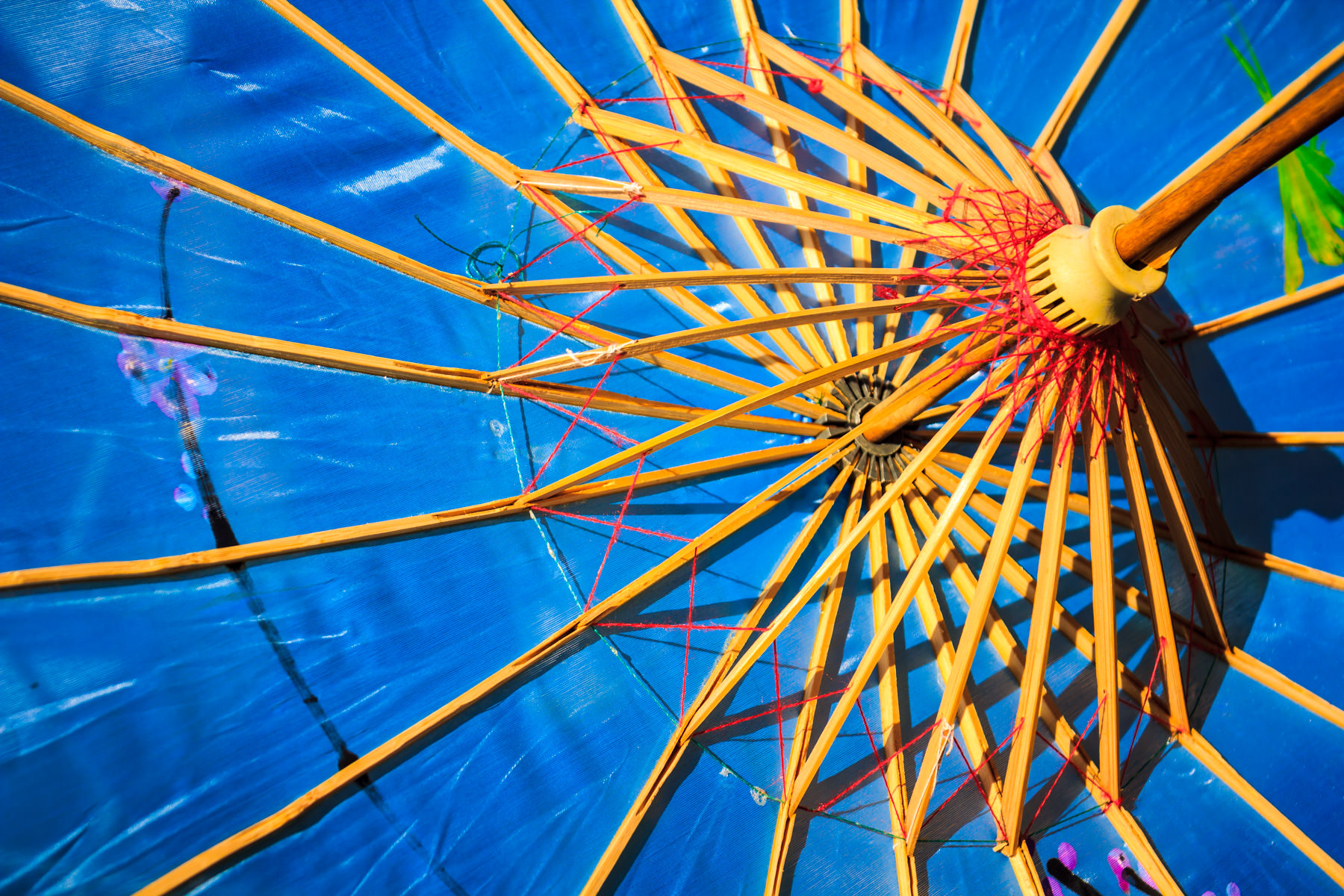 Detail of a Chinese parasol spotted at WorldFest, Addison, Texas.