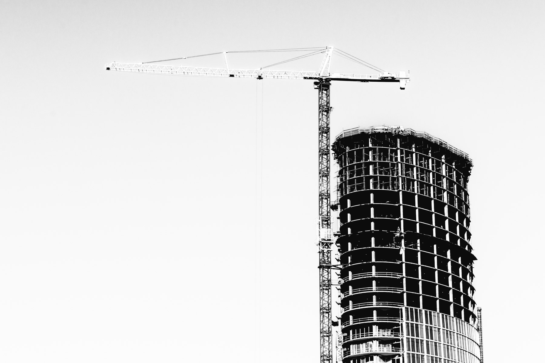 The Museum Tower under construction in the Dallas Arts District.