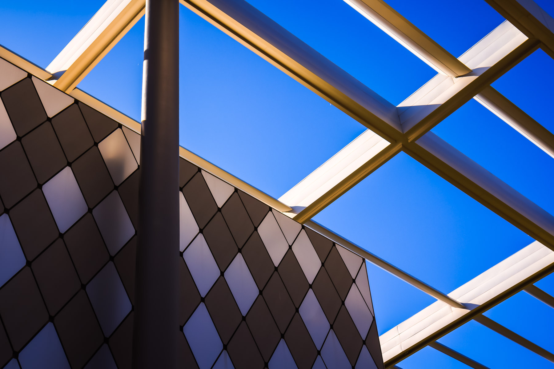 Detail of the exterior of the Winspear Opera House, Dallas, Texas.