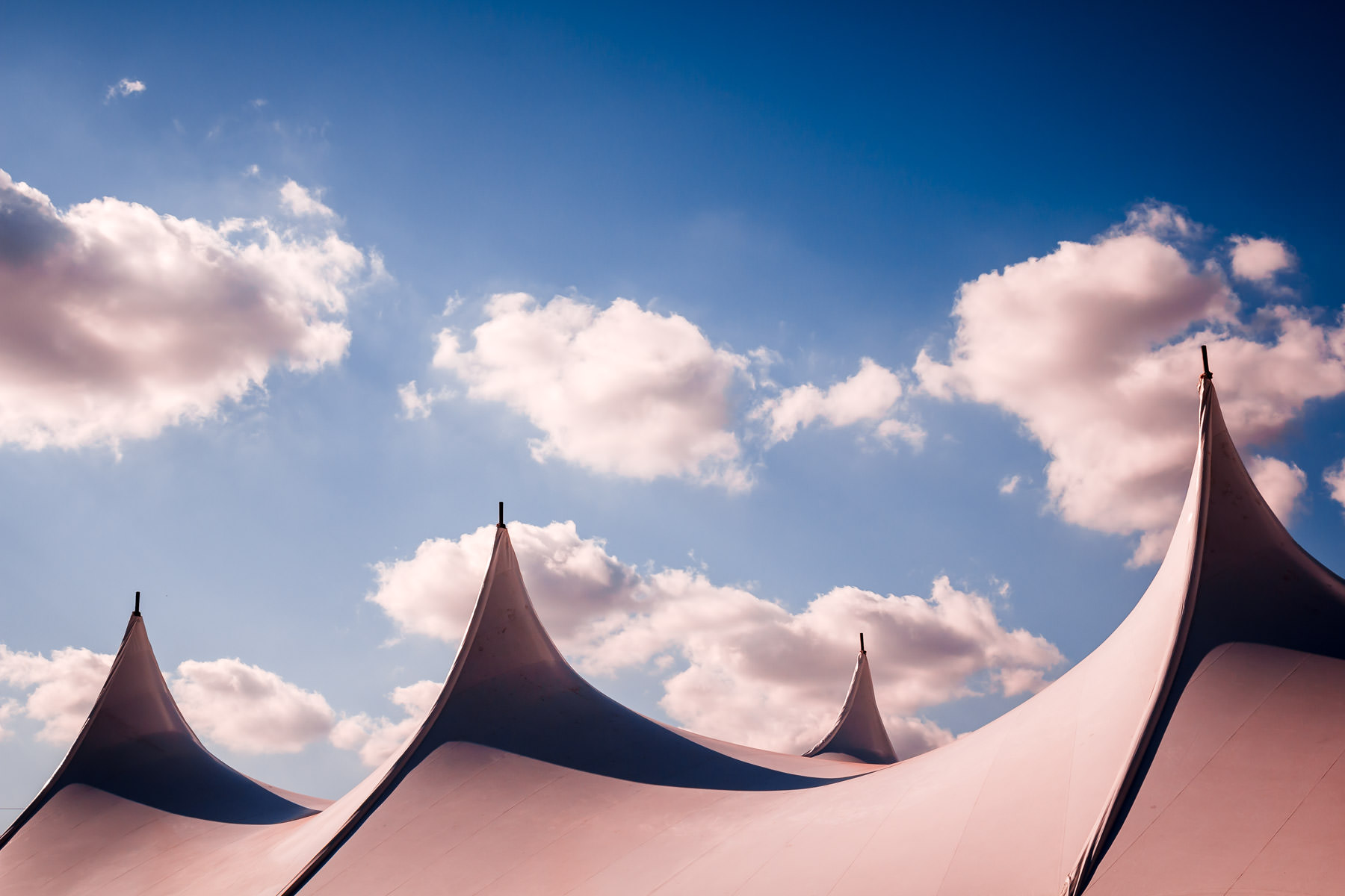 A tent set up for WorldFest, Addison, Texas.