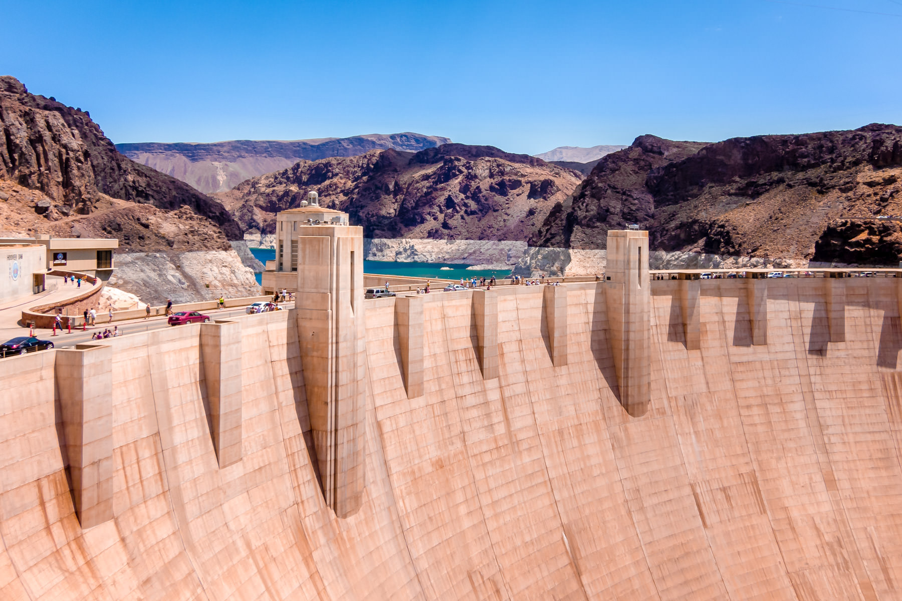 Overlooking Hoover Dam from the Nevada side of the Colorado River.