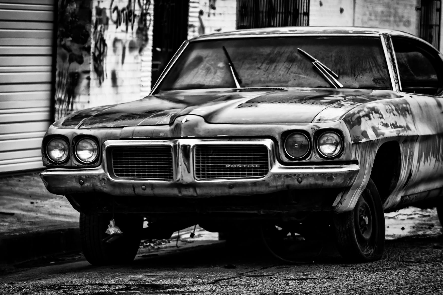 An abandoned, broken-down Pontiac spotted somewhere in north Tyler, Texas.