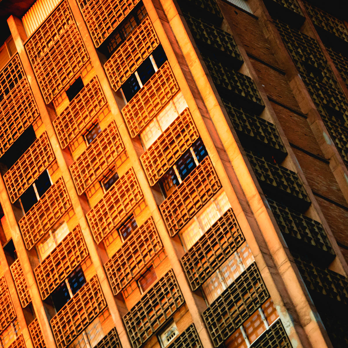 Abstract detail of a condo tower in Uptown Dallas.