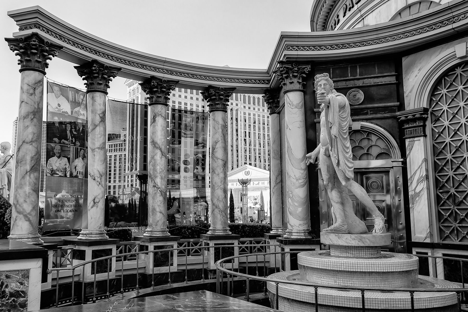 A statue outside of Caesars Palace, Las Vegas.