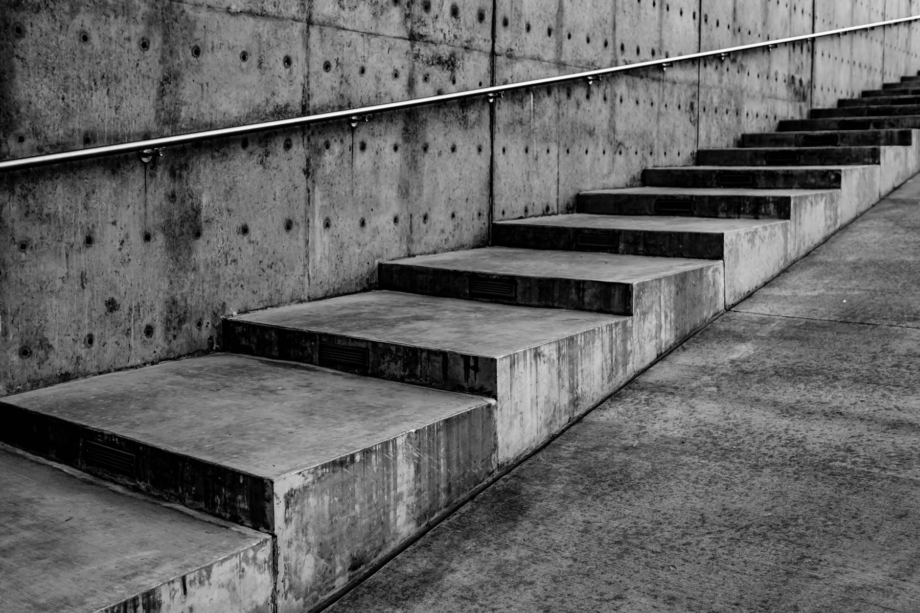 Stairs outside the Dee and Charles Wyly Theatre, Dallas, Texas.
