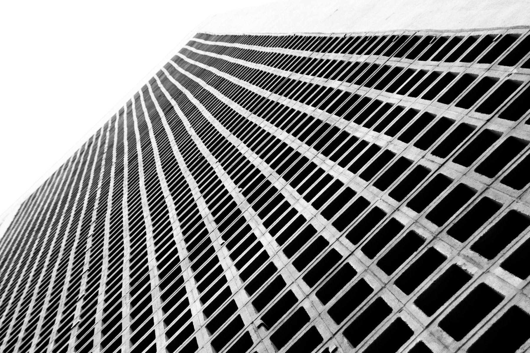 An abstract detail view of Downtown Dallas' One Main Place.