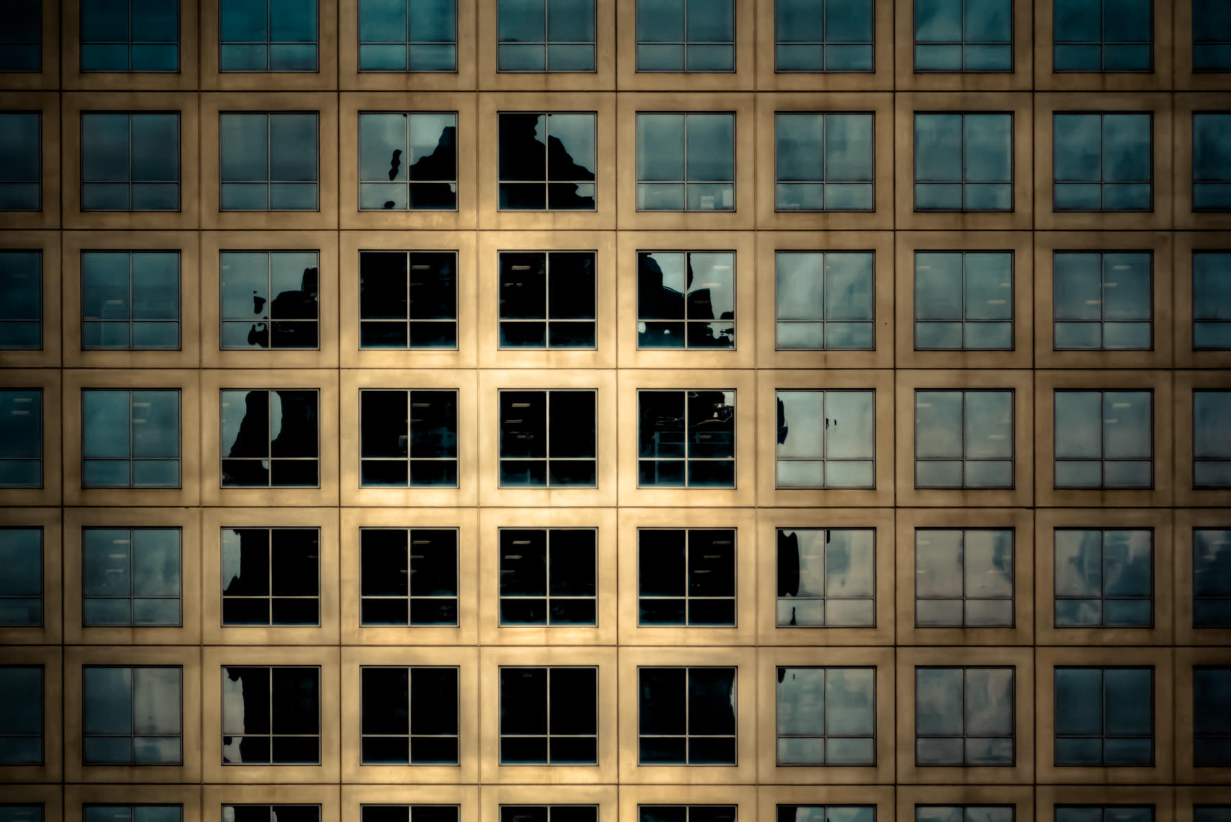 Dallas' Trammell Crow Center as reflected in the windows of a neighboring building.