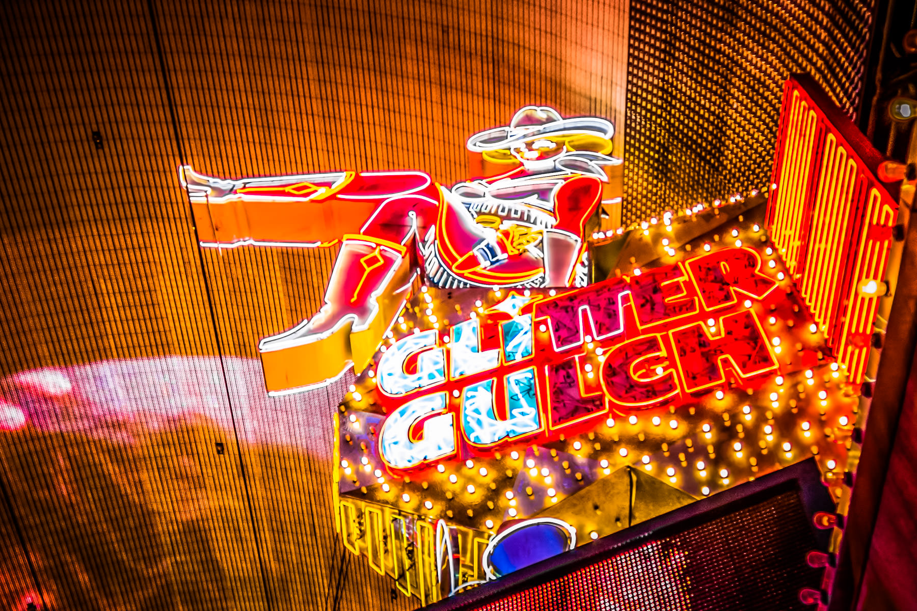 Atop the Glitter Gulch topless club on Fremont Street in Downtown Las Vegas.