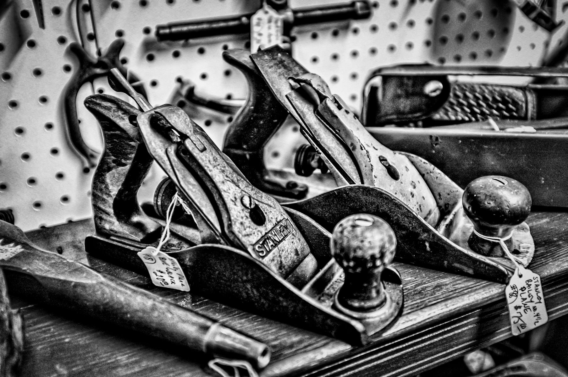 Two antique hand planes found in a shop in Gladewater, Texas.