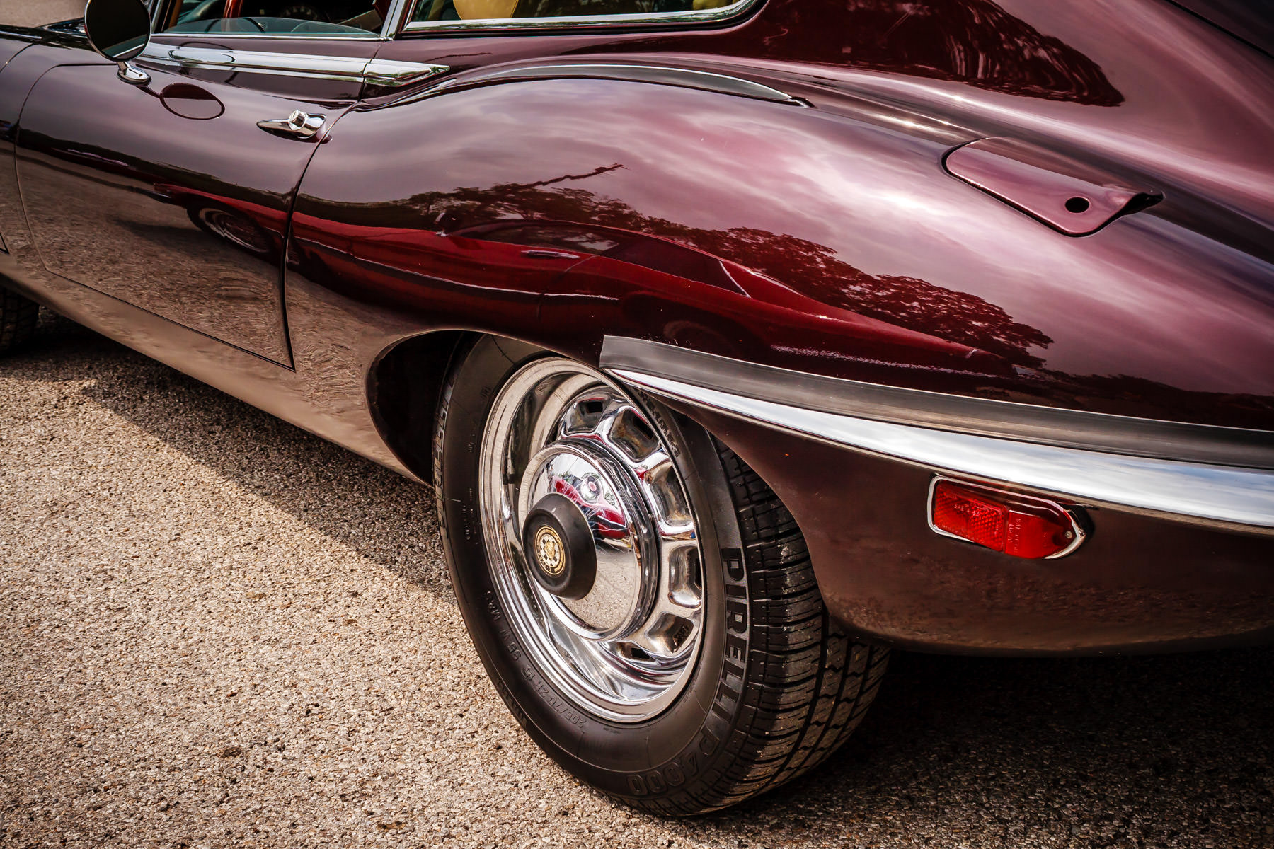 A Jaguar E-Type at Dallas' All British and European Car Day.