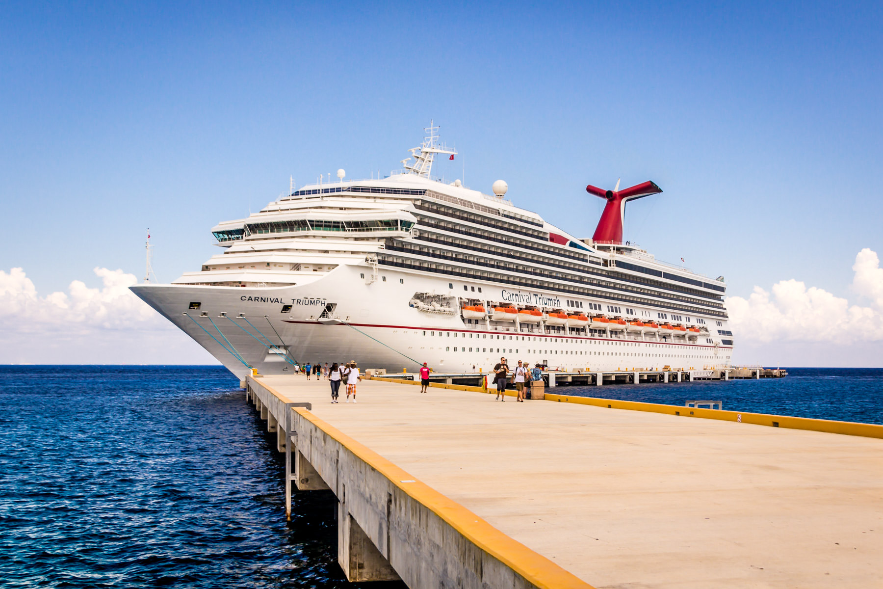 The Carnival Triumph, docked at the cruise port in Cozumel, Mexico.