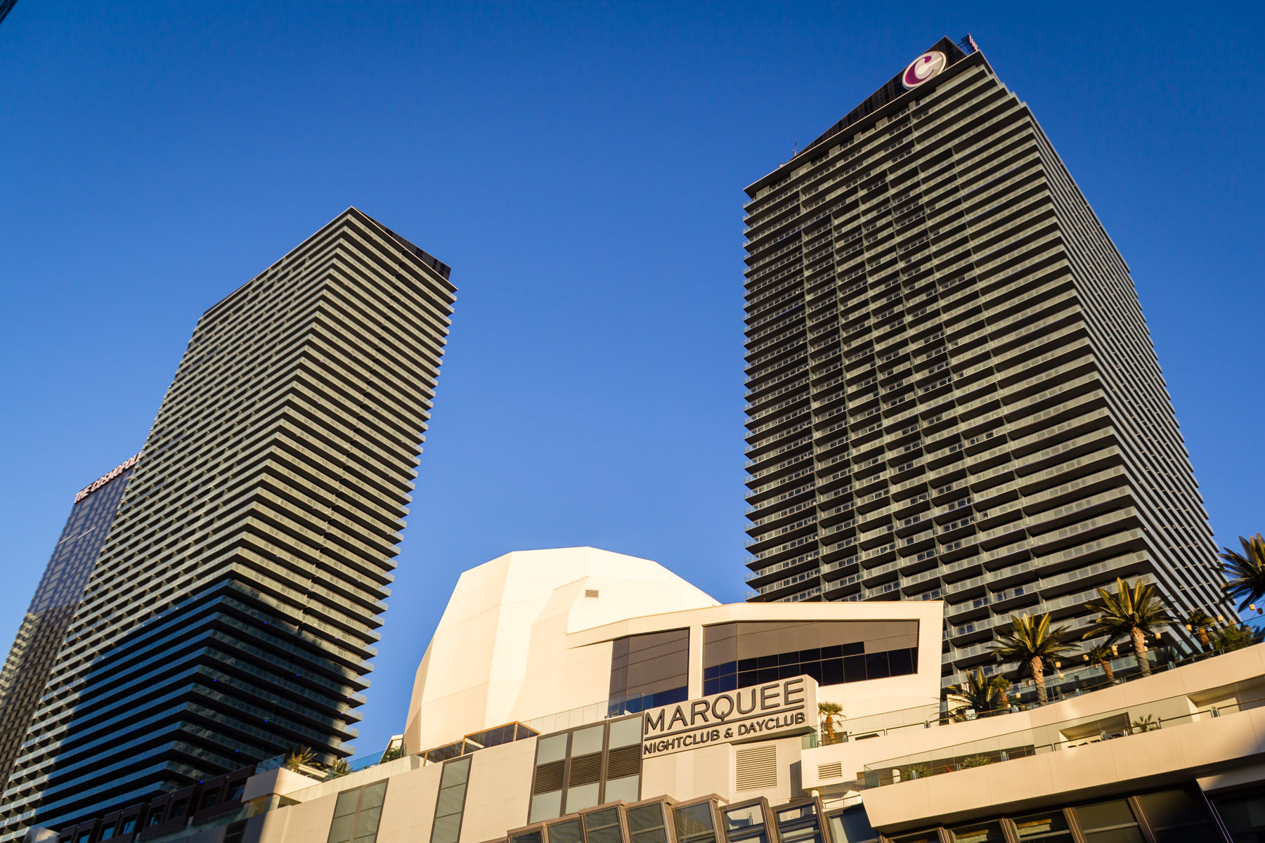 The two towers of the Cosmopolitan of Las Vegas Hotel and Casino, Las Vegas.