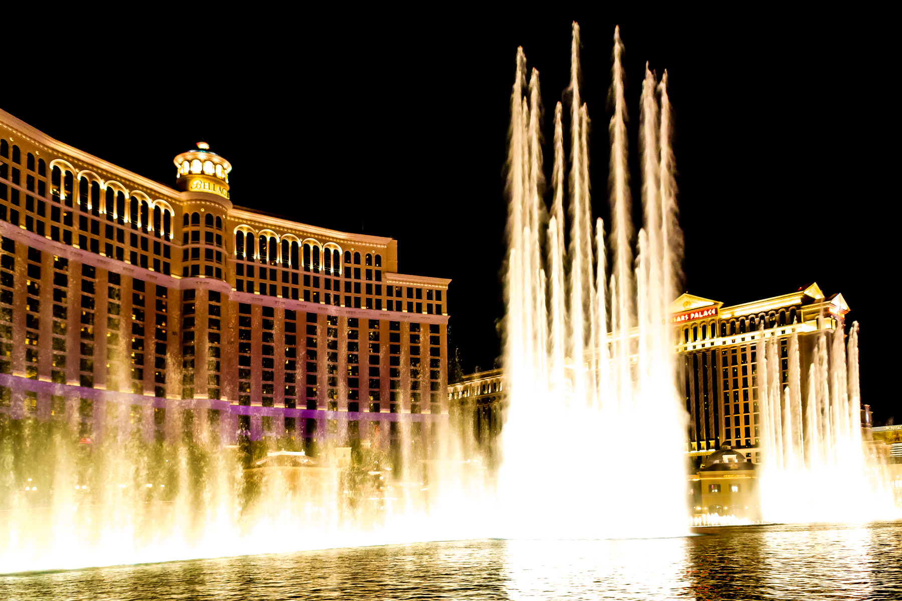 The fountains at The Bellagio, Las Vegas.