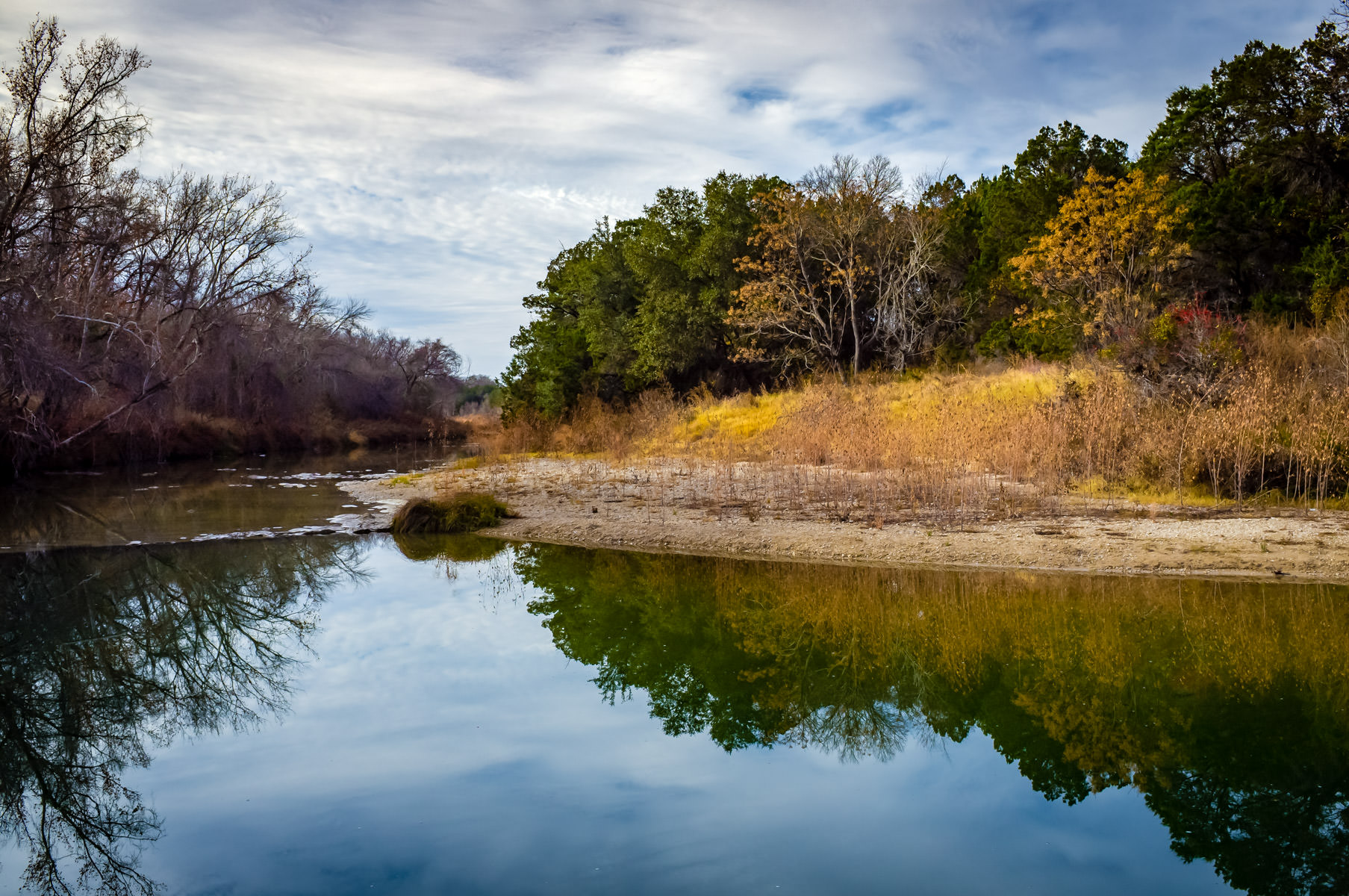 The Paluxy River at Dinosaur Valley State Park near Glen Rose, Texas.