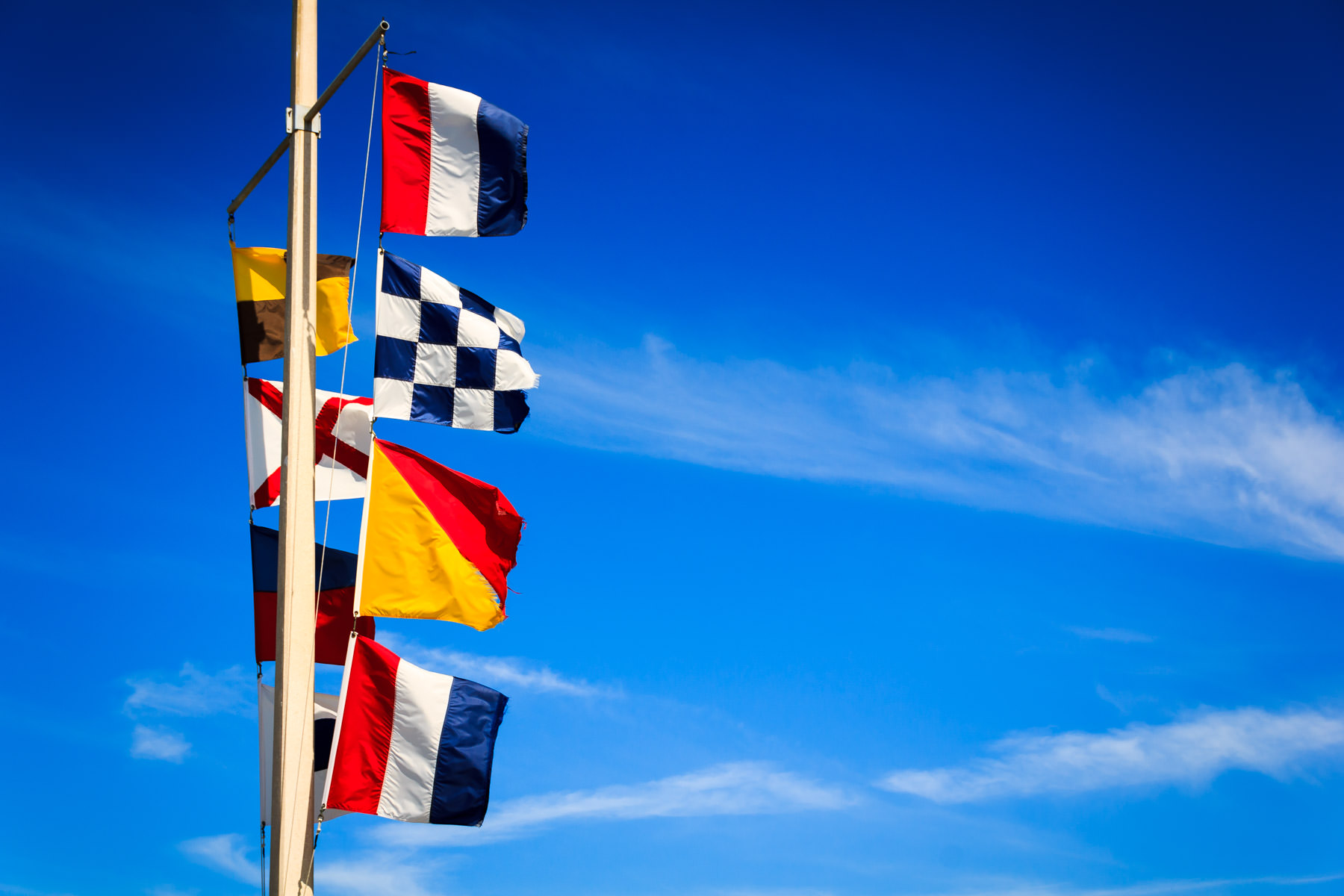 Maritime signal flags spotted in Galveston, Texas.